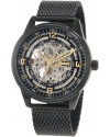 Men's Bravura Saturnos Elite Automatic Black Mesh Watch