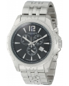 Men's Ultimate Swiss Quartz Chronograph Black Dial Stainless Steel Bracelet Watch