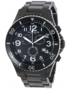 Men's Ultimate Swiss Chronograph White and Black Stainless Steel Bracelet Watch