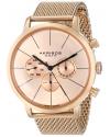 Men's Ultimate Swiss Quartz Multifunction Rose-tone Stainless Steel Mesh Bracelet Watch