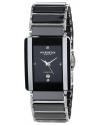 Men's Ceramic Rectangular Quartz Bracelet Watch