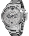 Men's Conqueror Multi-Function Stainless Steel Swiss Quartz Bracelet Watch