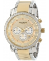 Men's Grandiose Diamond Quartz Chronograph Gold Dial Watch