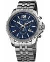 Men's Ultimate Swiss Quartz Chronograph Blue Dial Stainless Steel Bracelet Watch