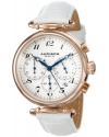 Women's Rose-Tone Stainless Steel and White Leather Watch