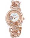 Women's Lady Diamond Rose-Tone Dial Mesh and Chain Link Bracelet Watch