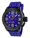 Men's Submersible Analog Display Swiss Quartz Blue Watch