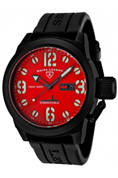 Swiss Legend Men's 10543-BB-05 Submersible Analog Display Swiss Quartz Black Watch