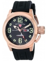 Men's Submersible Green Dial Black Silicone Watch