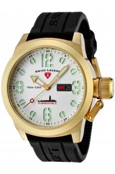 Men's Submersible Analog Display Swiss Quartz Black Watch