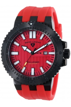 Men's Challenger Analog Display Swiss Quartz Red Watch