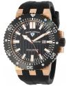 Men's Challenger Black Textured Dial Black Silicone Watch