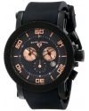 Men's Cyclone Analog Display Swiss Quartz Black Watch