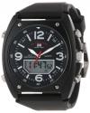 Sport Men's Analog-Digital Black Dial Black Rubber Strap Watch