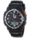 Men's Black Resin Analog Digital Twin Sensor Multi-Function Watch