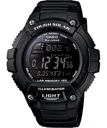 "Men's ""Tough Solar"" Running Watch with Black Resin Band"