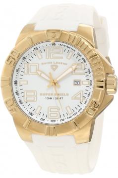 Men's Super Shield White Dial Watch