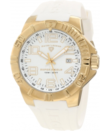 Men's Super Shield White Dial Watch
