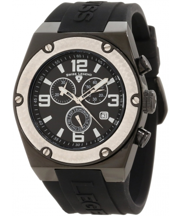 Men's Throttle Chronograph Black Dial Watch
