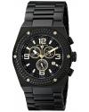 Men's Throttle Analog Display Swiss Quartz Black Watch