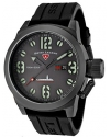 Men's Submersible Analog Display Swiss Quartz Black Watch