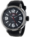 Sport Men's Watch with Black Rubber Band