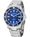 Men's Aquadiver Regatta Espora Swiss Quartz Professional Diver Blue Dial Stainless Steel Bracelet Watc