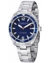 "Men's ""Aquadiver Regatta Endeavor"" Swiss Quartz Date Blue Dial Stainless Steel Dress Watch"