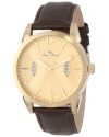Lucien Piccard Men's LP-11561-YG-010 Watzmann Gold Dial Brown Leather Watch
