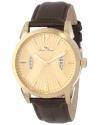 Lucien Piccard Men's LP-11561-YG-010 Watzmann Gold Dial Brown Leather Watch