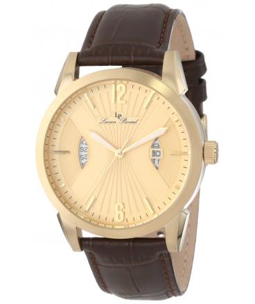 Men's Watzmann Gold Dial Brown Leather Watch