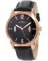 Men's Watzmann Black/Black Textured Leather Watch