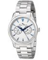Men's Stellar Analog Display Japanese Quartz Silver Watch