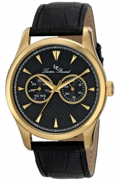 Lucien Piccard Men's LP-12761-YG-01 Stellar Analog Display Japanese Quartz Black Watch