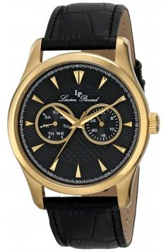 Lucien Piccard Men's LP-12761-YG-01 Stellar Analog Display Japanese Quartz Black Watch