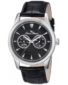 Lucien Piccard Men's LP-12761-01 Stellar Analog Display Japanese Quartz Black Watch