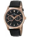 Lucien Piccard Men's LP-12761-RG-01 Stellar Analog Display Japanese Quartz Black Watch