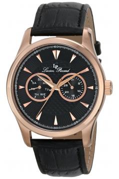 Lucien Piccard Men's LP-12761-RG-01 Stellar Analog Display Japanese Quartz Black Watch