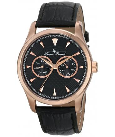 Men's Stellar Analog Display Japanese Quartz Black Watch