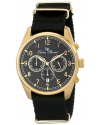 Men's Moderna Analog Display Japanese Quartz Black Watch