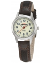 Women's Expedition Metal Field Brown Leather and Nylon Strap Watch