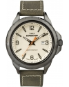 Men's Expedition Rugged Field Natural Dial Olive Green Leather Strap Watch