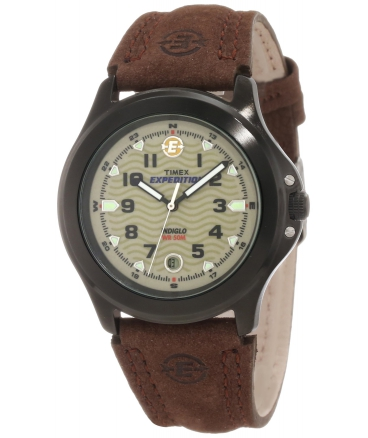 Timex Men's T47012 Expedition Metal Field Brown Leather Strap Watch