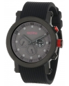 Men's Compressor Chronograph Gray Dial Black Silicone Watch