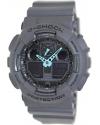 Men's G-Shock Analog-Digital Watch Grey/Neon Blue