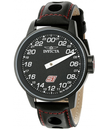 Men's S1 Rally Analog Display Swiss Quartz Black Watch