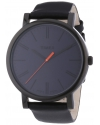 Easy Reader Black Leather Strap Mens Watch
