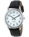 Men's Easy Reader Black Leather Strap Watch