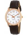 Men's Easy Reader Analog Display Analog Quartz Brown Watch