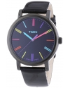 Heritage Easy Reader Black Leather Strap Unisex Watch
